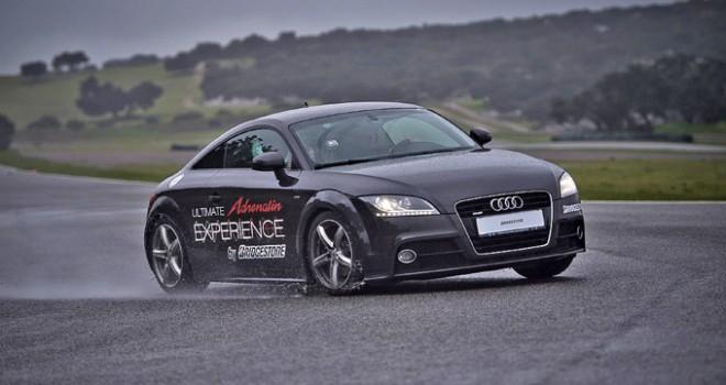 Bridgestone Adrenalin Potenza RE002, test bagnato sul circuito Ascari